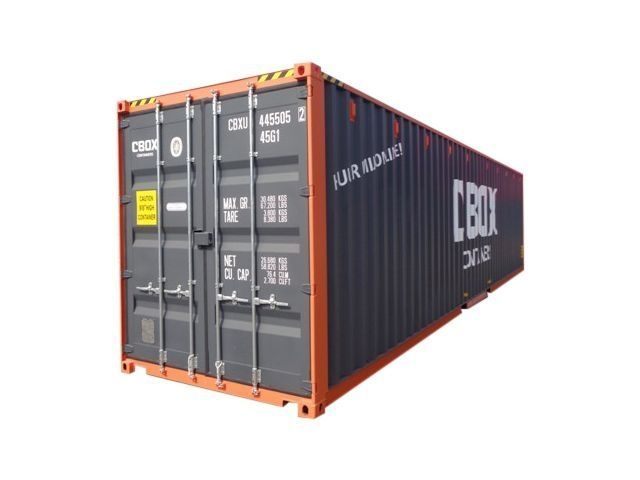 40ft High cube container I Huur I  CBOX Containers